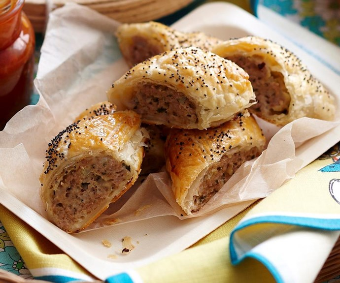 """**Pork and fennel sausage rolls** <br><br> Tasty homemade sausage rolls are perfect for a picnic or party or lunchbox. Classic Aussie fare with tomato sauce. <br><br> See the full *Australian Women's Weekly* recipe [here.](https://www.womensweeklyfood.com.au/recipes/pork-and-fennel-sausage-rolls-25921