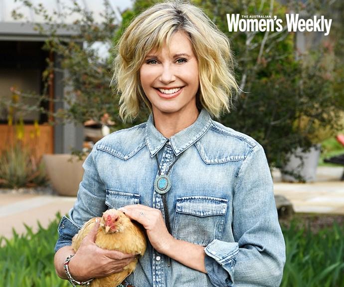 Olivia Newton John at her home in California. *(Image: The Australian Women's Weeky)*