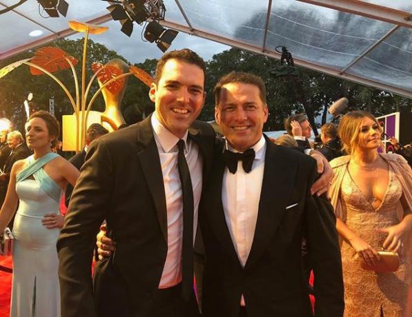 Pete and Karl Stefanovic at the 2018 TV WEEK Logie Awards.