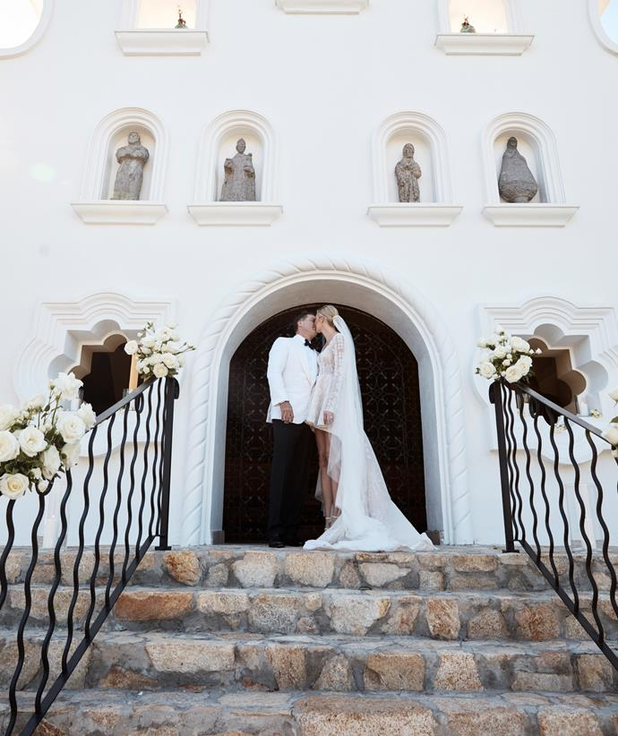 The couple were married at the One & Only Palmilla resort in Mexico. *(Image: Supplied)*