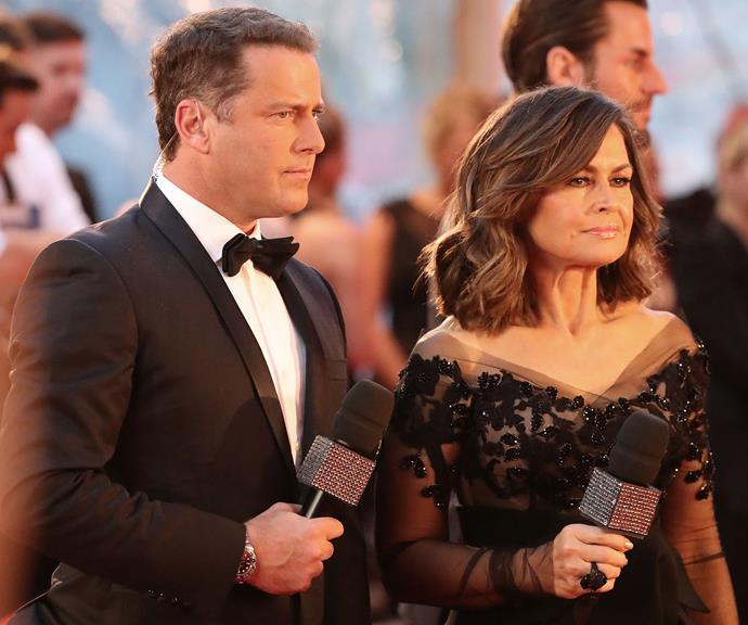 Karl Stefanovic and Lisa Wilkinson at the 2017 Logie Awards. *(Image: Getty)*