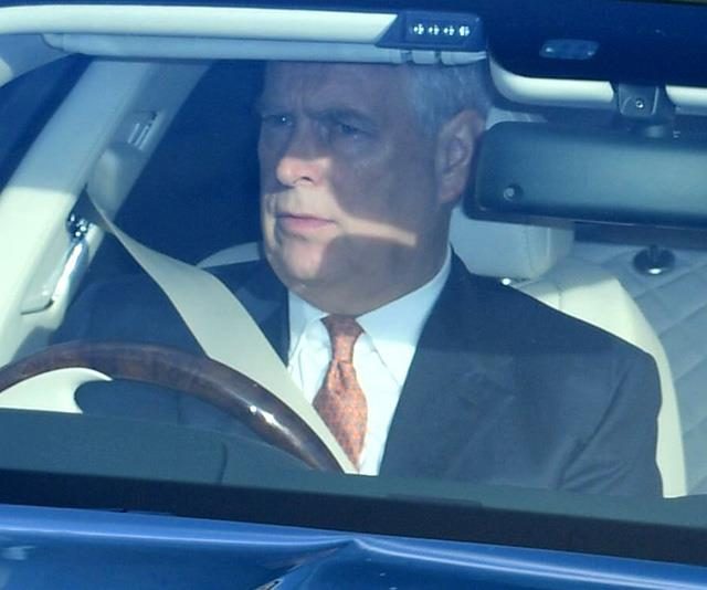 Meanwhile Prince Andrew drove himself into the event. *(Image: Rex)*