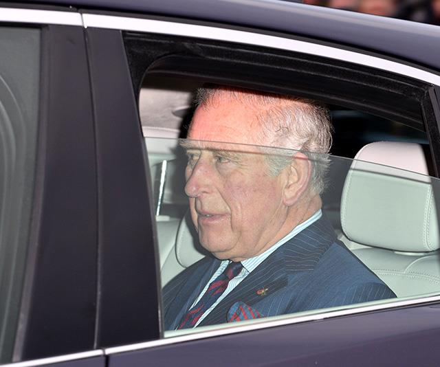 70-year-old Prince Charles was driven via chauffeur into Buckingham Palace.  *(Image: Rex)*