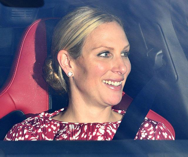 Zara and husband Mike Tindall were also among the royal guests.  *(Image: Rex)*