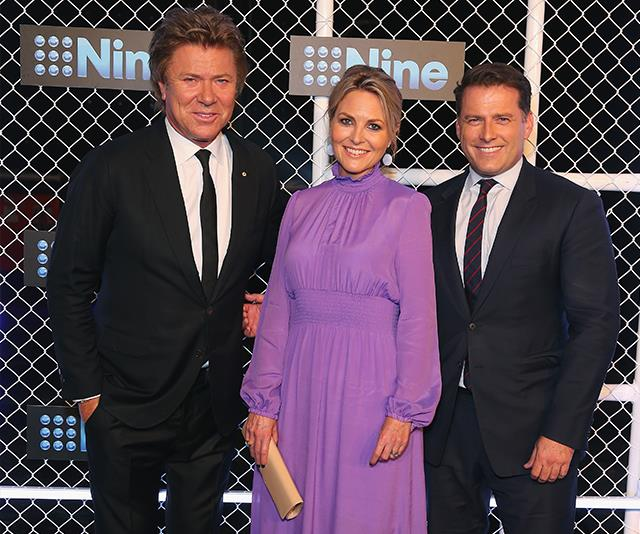 Richard Wilkins, Georgie Gardner and Karl Stefanovic at the Nine Upfronts event in October 2018. *(Image: Getty Images)*