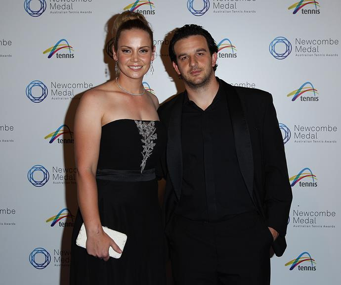 Jelena Dokic and her partner Tin Bikic pictured in 2013. *(Image: Getty)*