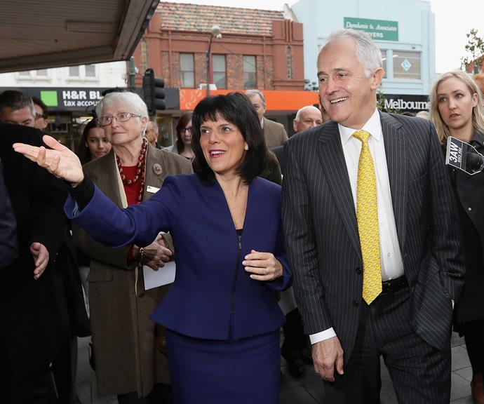 Julia Banks and former PM Malcolm Turnbull. *(Image: Getty)*