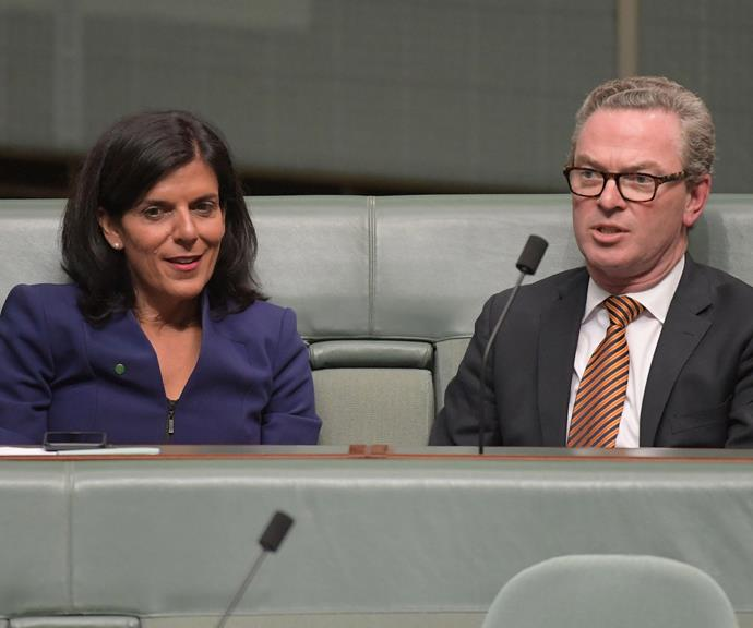 Julia Banks and Christopher Pyne. *(Image: Getty)*