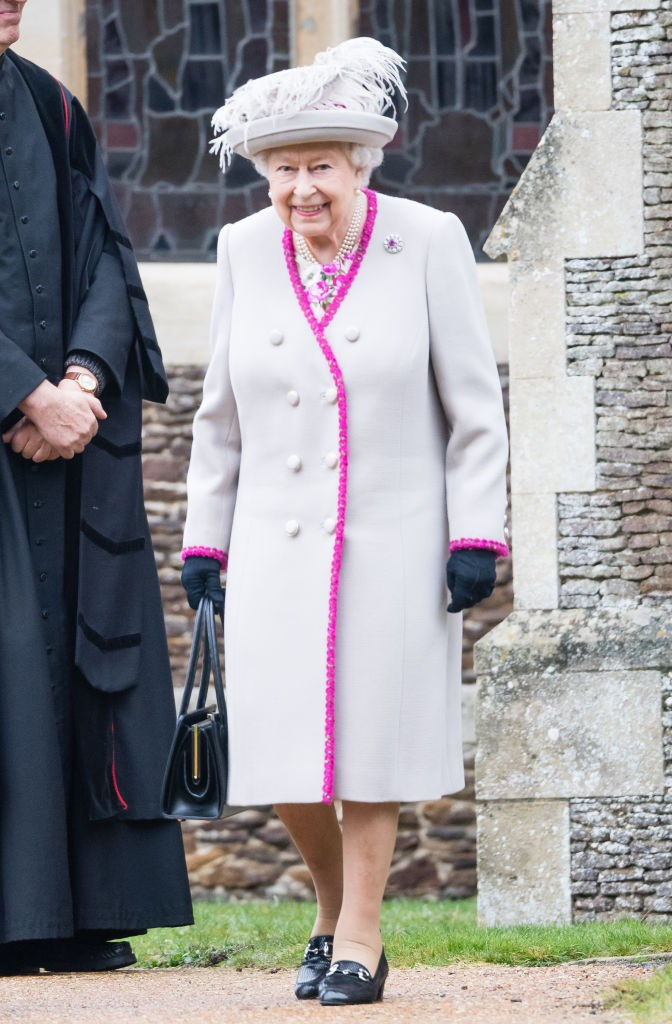 The Queen at the annual Christmas Day church service. *(Source: Getty)*