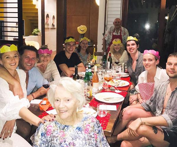 The Stefanovic/Yarbrough's were in fine form on Christmas Day. *(Image: Instagram @jasyarby)*