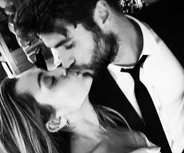 """On December 27 2018, Miley Cyrus shared an imaged on Instagram captioned """"10 years later....."""", confirming her marriage to Liam Hemsworth. *(Image: Instagram/@mileycyrus)*"""