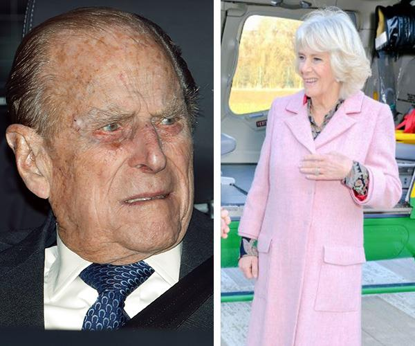 Senior royals Prince Philip and Duchess Camilla were absent at this year's Christmas service. *(Images: Getty Images)*