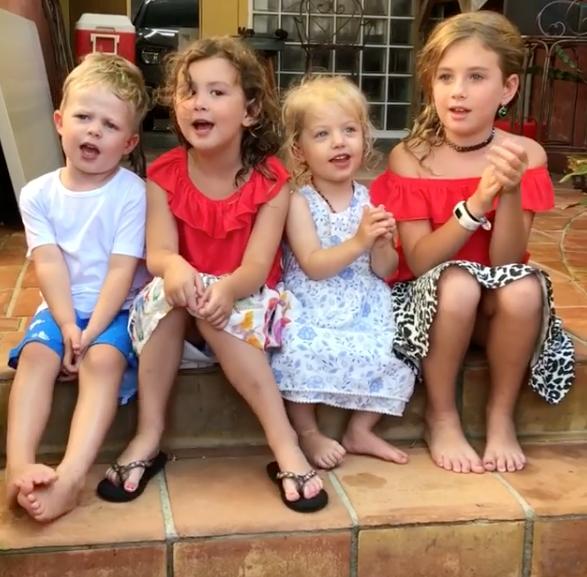 Ben Fordham's little ones had a Christmas sing song. *(Image: Instagram @benforham9)*