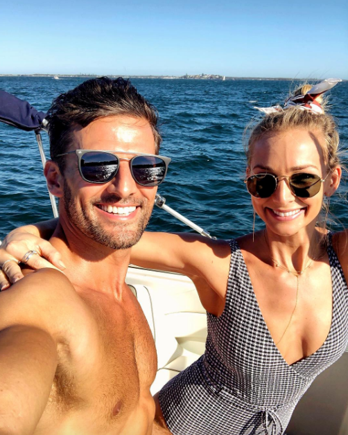 And they weren't the only *Bachelor* newlyweds! Tim Robards and Anna Heinrich spent their first Christmas Day together out on the water. *(Image: Instagram @annaheinrich1)*