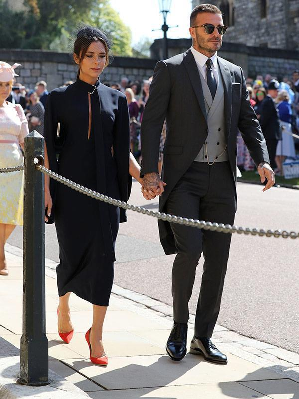 David and Victoria Beckham attended Meghan and Harry's nuptials back in May. *(Image: Getty)*