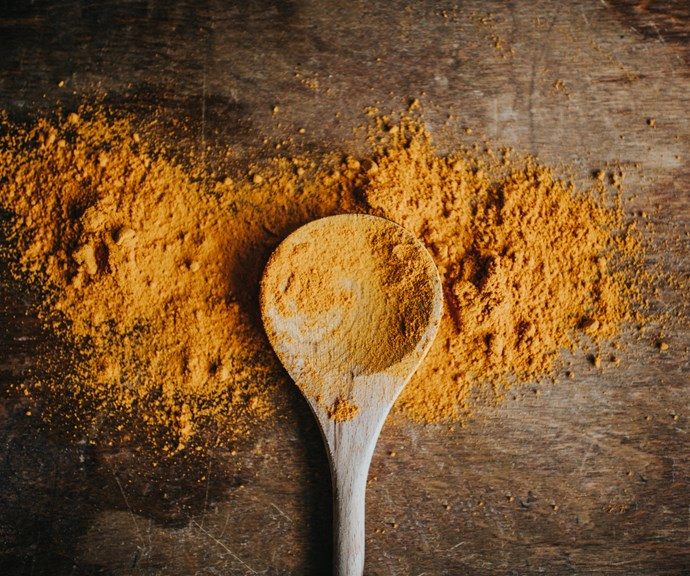 **Turmeric** <br><br> Studies suggest turmeric may aid weight loss by blocking fat cells from forming and expanding, while also making your cells better at energy metabolism. *(Source: Getty)*