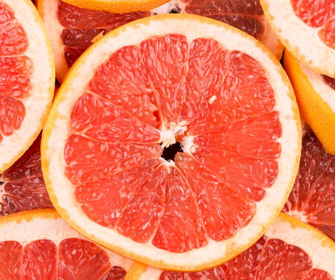 **Grapefruit** <br><br> Studies have found that simply sniffing grapefruit can curb your appetite, while compounds in the fruit may also help your body burn calories more effectively. *(Source: Getty)*
