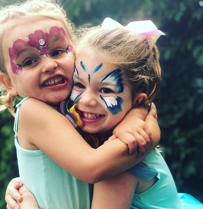 Ivy Mae, 4, and Indi Rae, 2, are overjoyed with the impending arrival of a little sibling! *(Source: Instagram)*