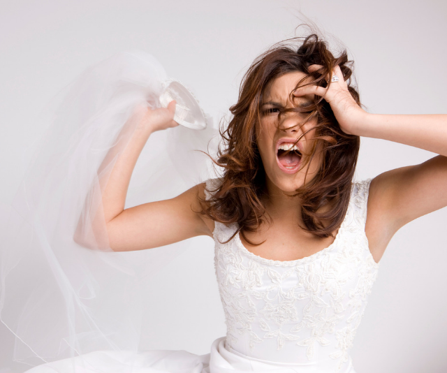 The bride-to-be has been labelled a 'bridezilla' after venting her fury at her bridesmaid's pregnancy. *(Image: Getty.)*