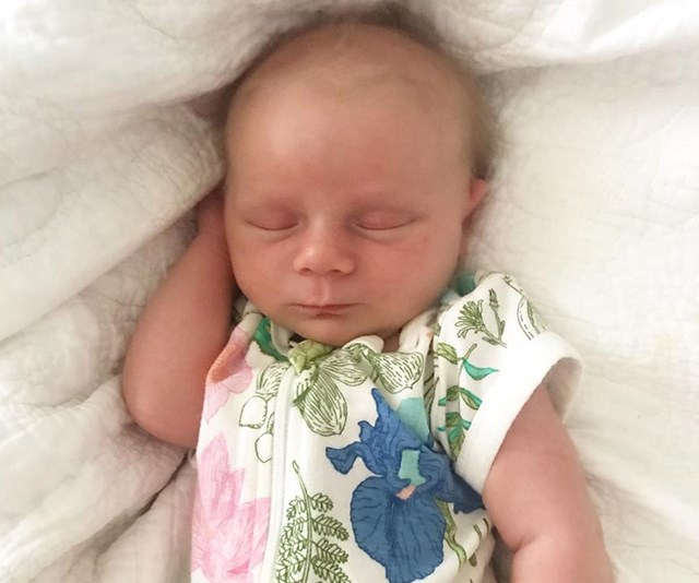 """At just three weeks old, little Addie is """"forever changing."""" *(Image: Instagram @bickmorecarrie)*"""