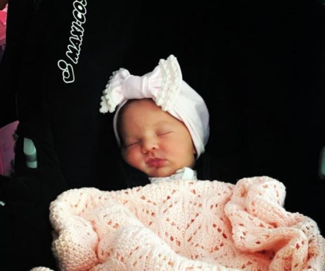 Perla is Bert and Patti's fifth grandchild. *Image: Instagram/Lauren Elise Newton*