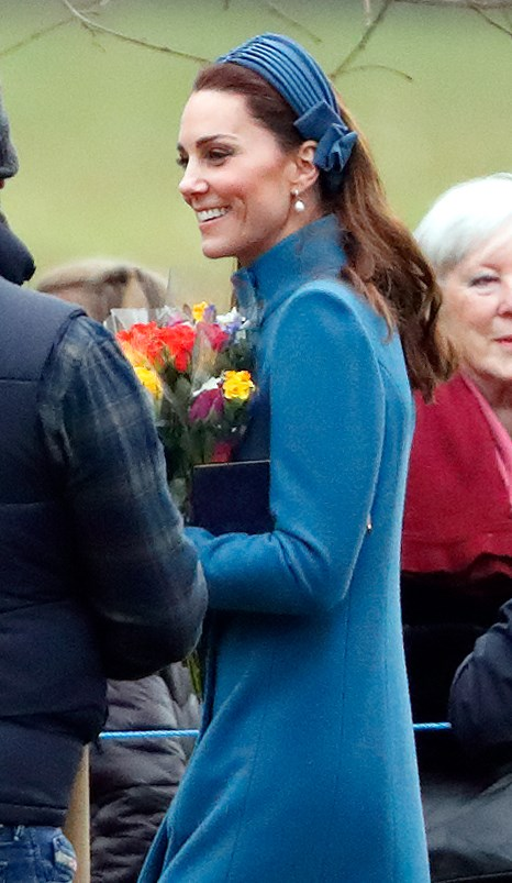 Duchess Catherine wrapped up warm as she stepped out in public for the first time since Christmas Day. *(Image: Getty)*