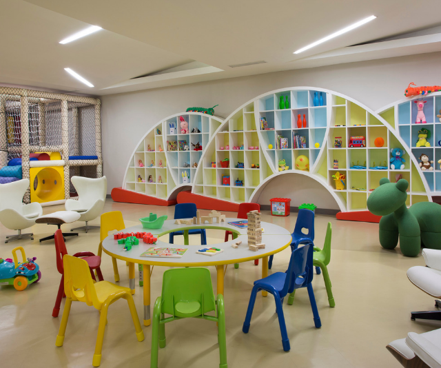 The child-minding facilities at 'Mulia Kidz' are next-level! *Image: Supplied.*