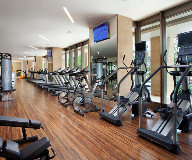 The fitness facility features the latest training equipment and complimentary classes for Mulia guests. *Image: Supplied.*