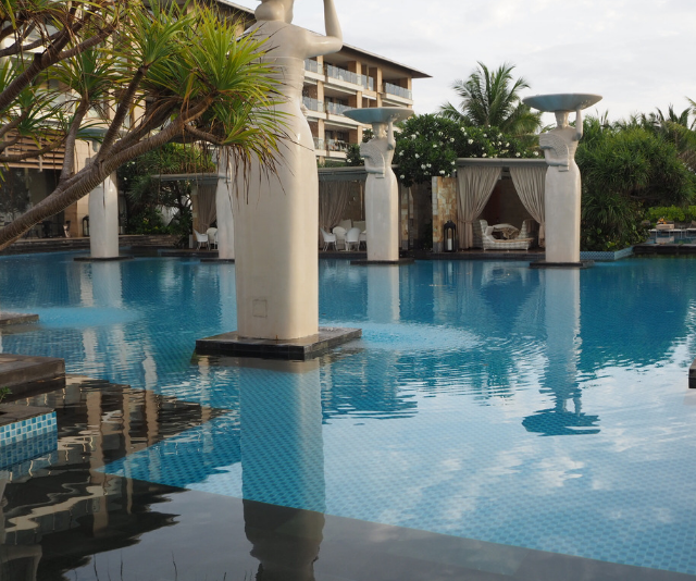 Relaxing in a cabana at the Oasis beachfront pool is a great way to make the most of your time at The Mulia. Or, of course, you could take a dip in the other five pools at the resort! *Image: Supplied.*