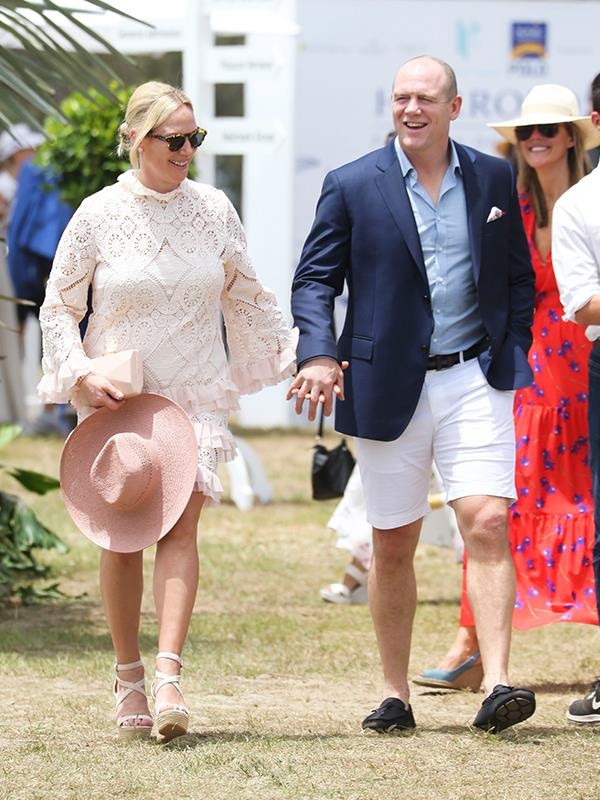 Zara and Mike looked thrilled to be Down Under when they stepped out at the Magic Millions Carnival on the Gold Coast over the weekend. *(Image: Media Mode)*