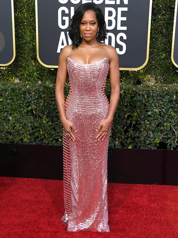 Actress Regina King is shining like a pink disco ball...and we totally love it!