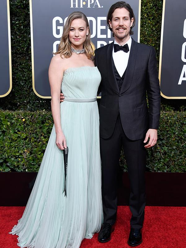 "New parents, Aussie actress Yvonne Strahovski and her husband Tim Loden, are on a date night [without their son.](https://www.nowtolove.com.au/celebrity/celeb-news/yvonne-strahovski-gives-birth-baby-boy-51856|target=""_blank"") This is the first Golden Globe nomination for the Sydney-born star."
