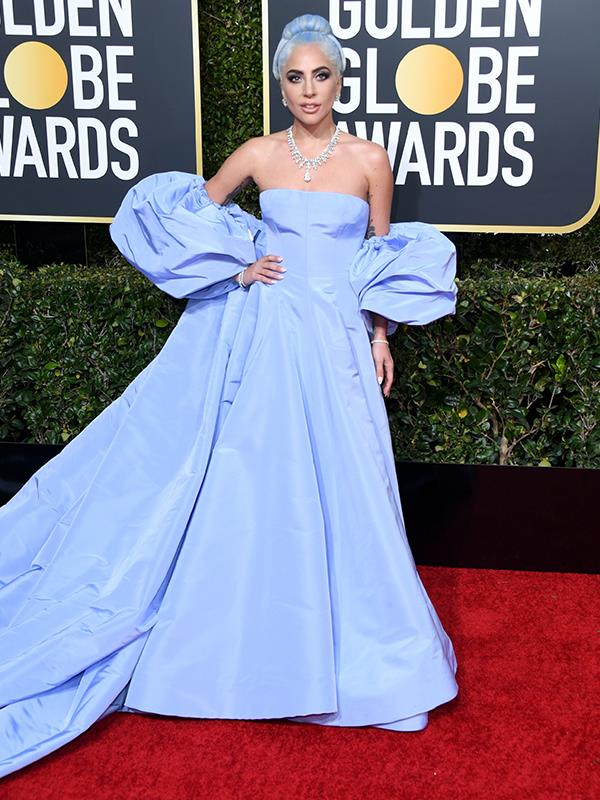 "Bippity boppity boo! [Lady Gaga](https://www.nowtolove.com.au/tags/lady-gaga|target=""_blank"") is the perfect fairy godmother as she walks the red carpet. She is nominated for *A Star is Born*."
