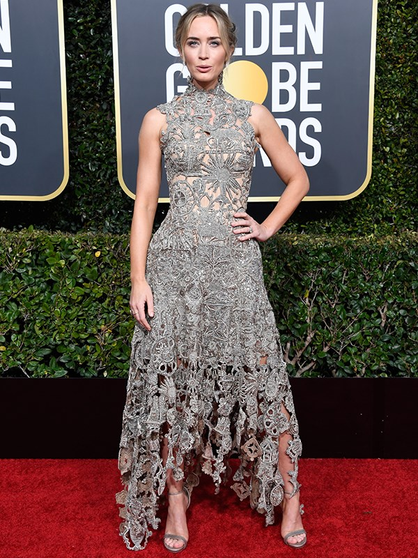 """Nominated for Best Actress in a Motion Picture, *Mary Poppins*' star [Emily Blunt](https://www.nowtolove.com.au/tags/emily-blunt
