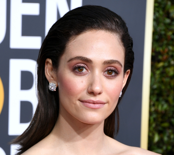 Emmy Rossum at the 2019 Golden Globes. *(Image: Getty)*