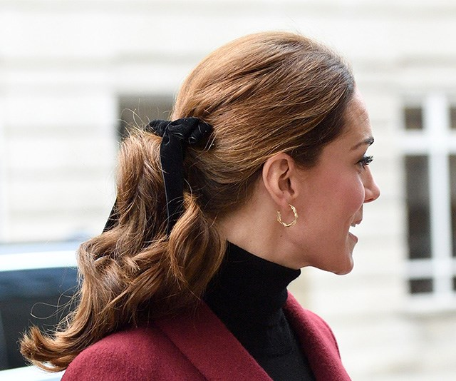 Royal inspiration: Duchess Catherine is also a huge fan of the black bow trend.