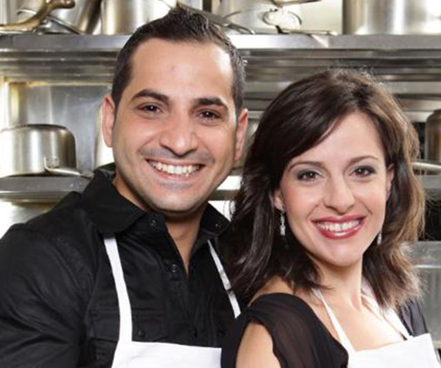 The first ever *MKR* winners are proud parents of four. *(Image: Channel Seven)*