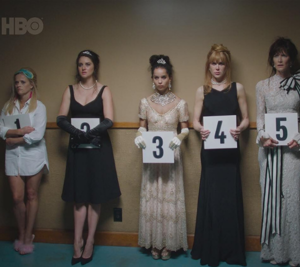 Reese Witherspoon, Shailene Woodley, Zoe Kravitz, Nicole Kidman and Laura Dere. *(Image: HBO)*