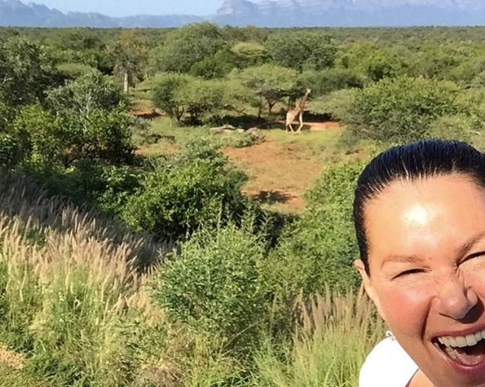 Co-host Julia Morris shows off the wild location where *I'm A Celebrity* is filmed. *(Image: Instagram)*