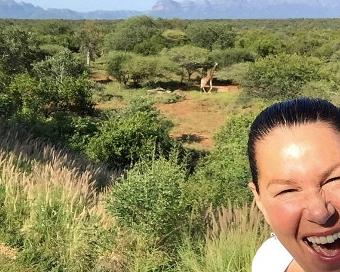 Co-host Julia Morris shows off the wild location where *I'm A Celebrity* is filmed. *(Image: Instagram)*