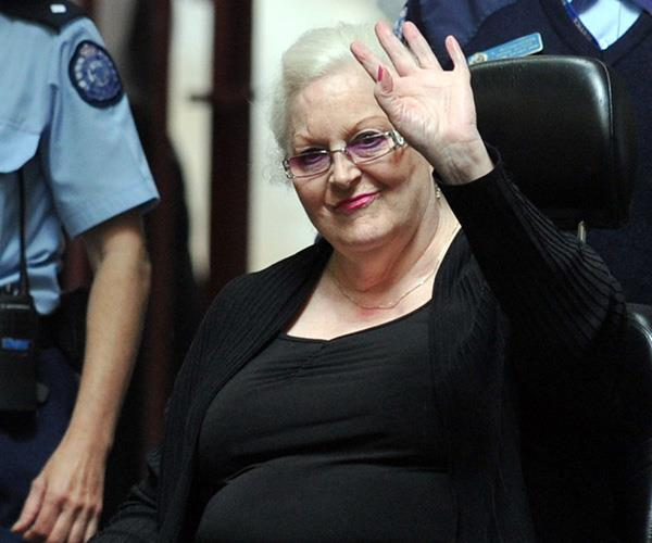 The gangland widow was the getaway driver in her brother-in-law Des' murder. *(Image: AAP)*