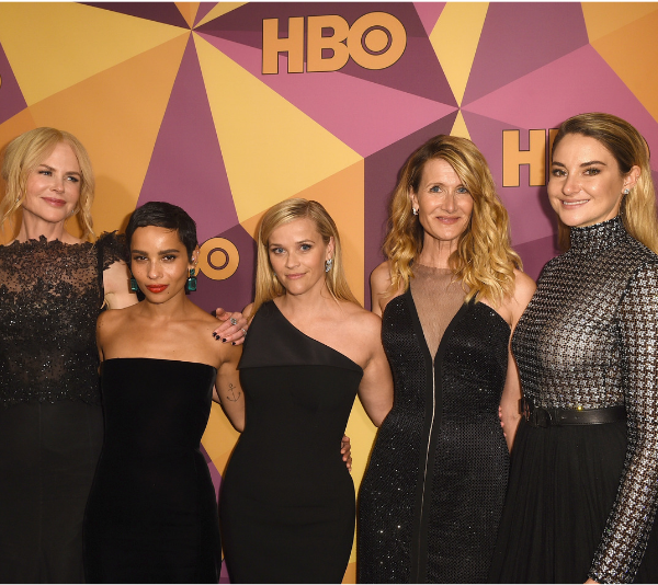 Nicole Kidman, Zoe Kravtitz, Reese Witherspoon, Laura Dern and Shailene Woodley. *(Image: Getty)*