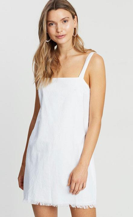 """You'll be linen the dream in this [versatile white sundress by Nude Lucy.](https://livingbydesign.net.au/products/nude-lucy-albion-linen-dress-white?variant=19787243651185&gclid=EAIaIQobChMIz5qR0Y7d3wIV0auWCh1E9Q3-EAQYASABEgKjdvD_BwE