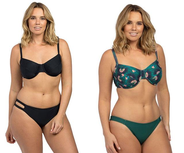 """Once your wedding wear is sorted, the next biggest conundrum is swimwear. Shopping for a cossie is hard enough when you're not pregnant but thankfully brands like Lilly and Lime cater for all shapes and sizes, with styles ranging from 6D–18HH with a beautiful selection of brights, colours and prints perfect for curvier, bigger busted ladies. You can mix and match your top and bottoms, which is always a huge bonus if you're a different size on your bust compared to your bum like so many of us. [You can check out their collection here.](https://au.lillyandlime.com//