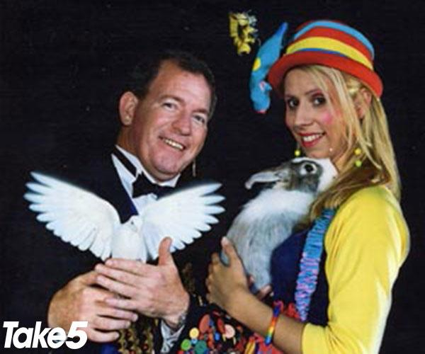 Me as an assistant for magician James Sleight.