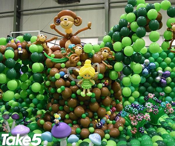 Some cute little balloon monkeys and fairies!