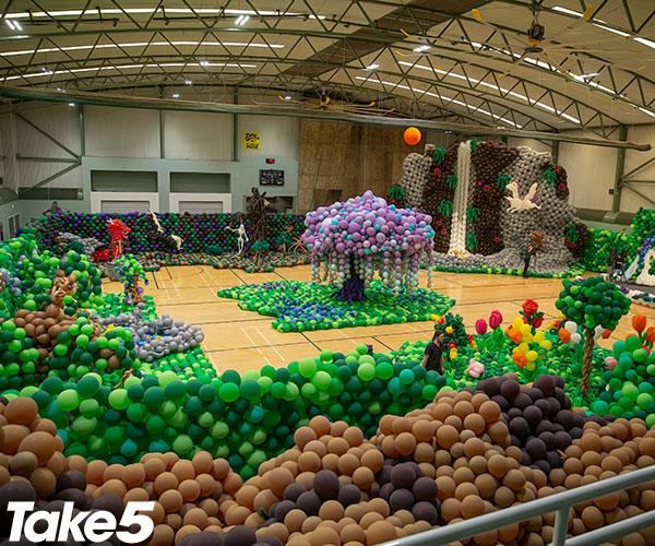 Our inflatable enchanted forest made the perfect venue.