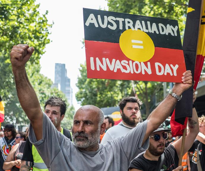 "Many Indigenous Australians refer to Australia Day as ""Invasion Day"". *(Image: Getty)*"