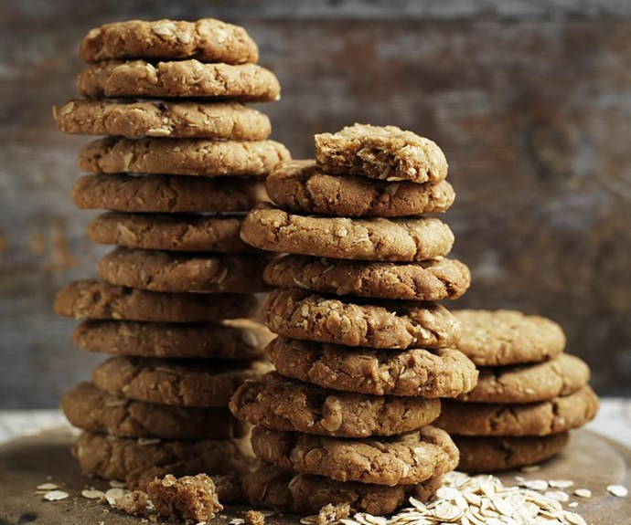 """**The best Anzac biscuit recipe of all time** <br><br> When you consider the history of the Anzac biscuit, there are actually many different recipes. This one is the best. It's a big call, but we're willing to make it. <br><br> See the full *Australian Women's Weekly* recipe [here](https://www.womensweeklyfood.com.au/recipes/best-anzac-biscuits-recipe-28575