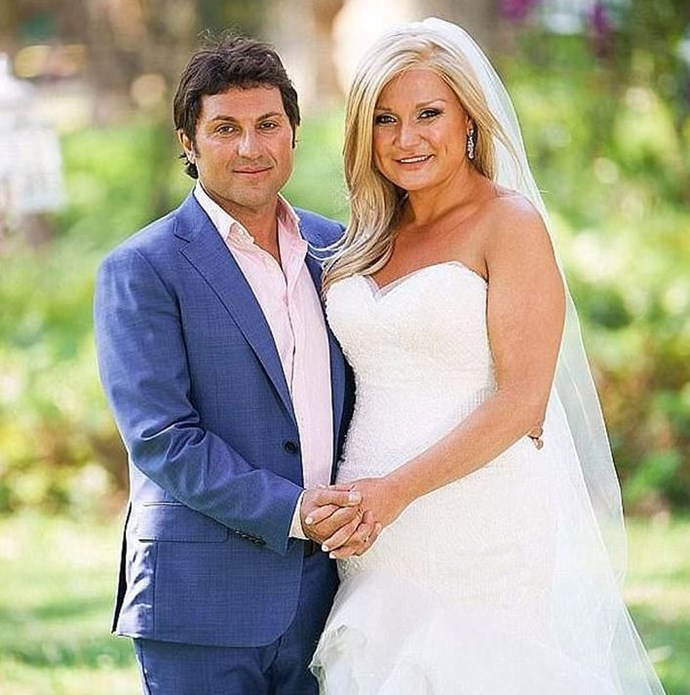 Nasser and Gabrielle on the set of Married at First Sight, Season 5. *(Source: Network Ten*)